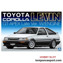 Toyota AE86 Corolla Levin GT-APEX Late Version with Engine