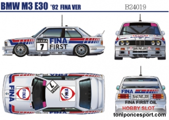 Bmw M3 E30 Rally Group A Fina-Jagermeister - DTM (2 in 1) Kit 1/24
