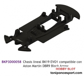 Chasis lineal BK19 EVO1 compatible con Aston Martin DBR9 Black Arrow