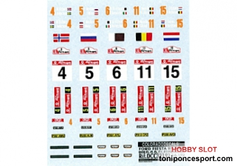 Calca CRP 1/32 Placas y Pilotos Ford Fiesta WRC Rally Portugal 2013