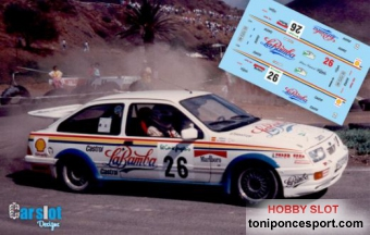 "Calca Ford Sierra RS Cosworth Rallye El Corte Ingles 89 ""M. Padron - J. Munguia"""