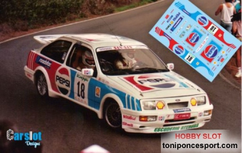 "Calca Ford Sierra RS Cosworth Rallye El Corte Ingles 90 ""Raul Santana - B. Alonso"""