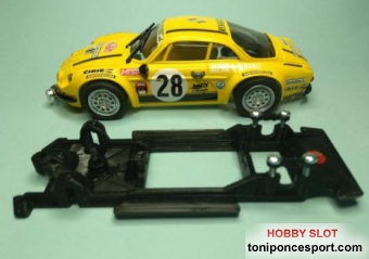 Chasis Lineal Black Reanult Alpine A310 Team Slot