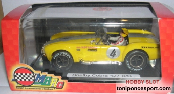 Shelby Cobra 427 Amarillo - Limited Edition guia slot racing.