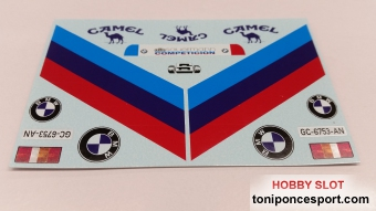 "Calca Ford Transit asistencia ""Camel"" BMW M3 J.M. Ponce 1989 1/32"