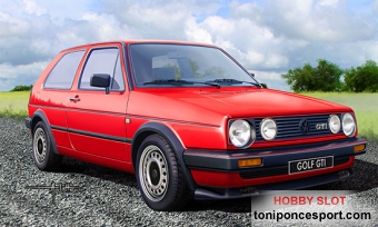 VOLKSWAGEN GOLF GTI'86 Model Set (Incluye pinturas basicas, pincel y pegamento.