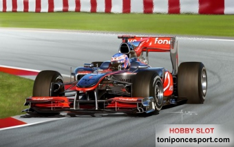 MODEL SET MCLAREN MERCEDES MP4/25, (J. Button) + Pegamento + Pintura + Pincel