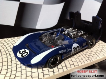 Lola T70 Spyder Bridgehampton 1966 - Azul Nº30 Limited Edition