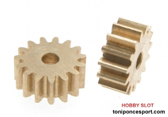 Pi�on 15 dientes Slot Car Pinion Gear PG-B215 (x2)