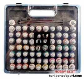 Maletin Game Color Vallejo (72 colores + 3 Pinceles)