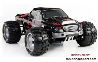 MONSTER TRUCK 1/18 RTR 2,4GHZ VORTEX WLTOYS + 2� bateria